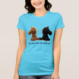 Yes, you can sit with us! Tee for girls