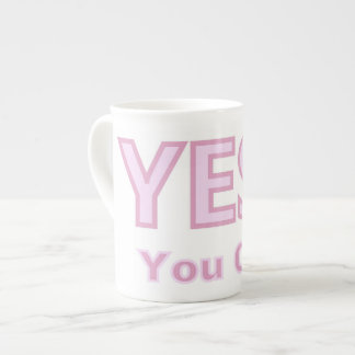 YES YOU CAN! Words of Encouragement & Support Mug