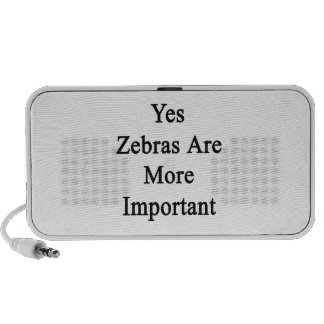 Yes Zebras Are More Important iPod Speakers