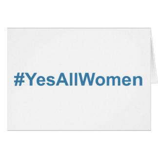 #YesAllWomen Card