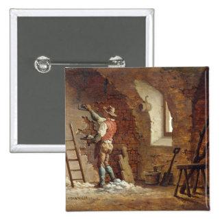Yesero, c.1807 (aceite en el panel) pin cuadrada 5 cm