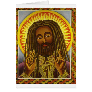 Yeshu Rasta Fari Greeting Card