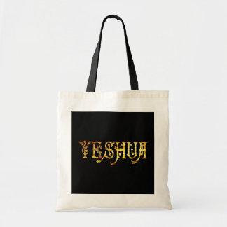Yeshua 5 Or Fond noir Tote Bag