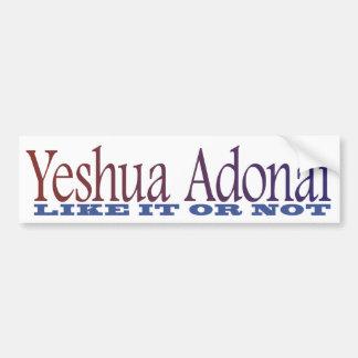 Yeshua Adonai Bumper Sticker