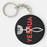 Yeshua Basic Round Button Keychain