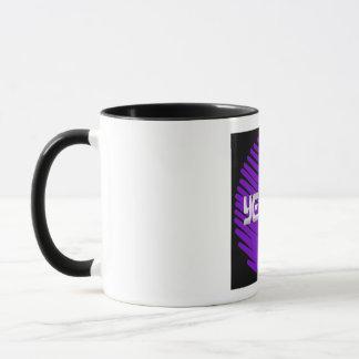 Yeshua blanc rond violet mug