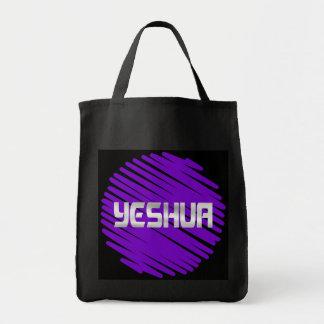 Yeshua blanc rond violet tote bag