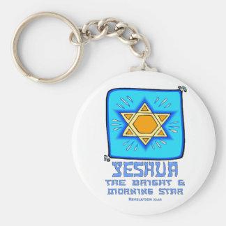 Yeshua el brillante y el lucero del alba llaveros