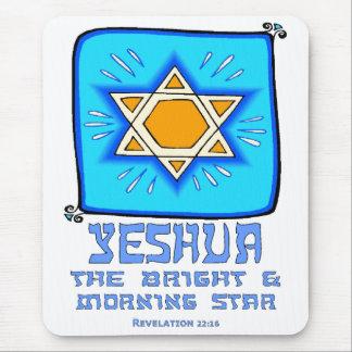Yeshua el brillante y el lucero del alba mousepad