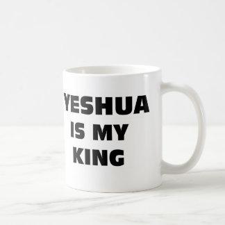 Yeshua es mi rey taza de café