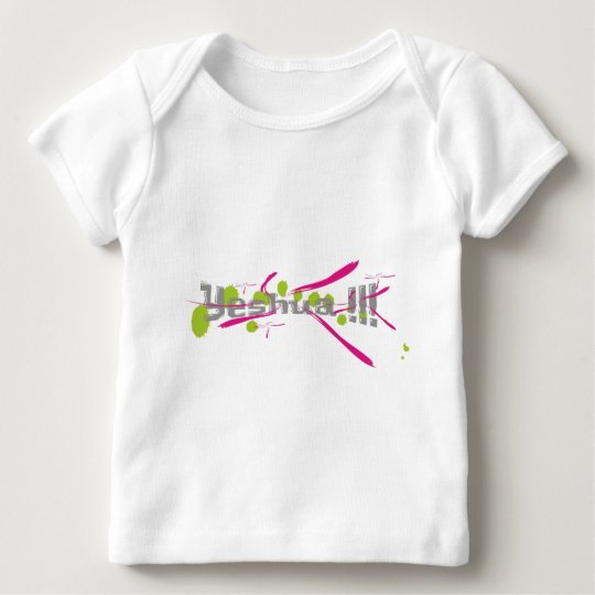 Yeshua !!! gris sur taches vertes traits roses baby T-Shirt