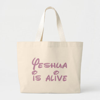 Yeshua is alive Blanc Large Tote Bag