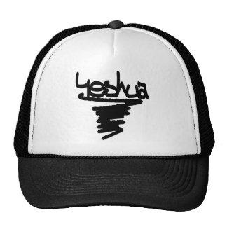Yeshua peinture noire trucker hats