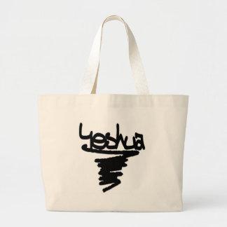 Yeshua peinture noire large tote bag