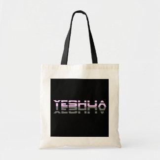 Yeshua Reflet Rose Gris Fond noir Tote Bag