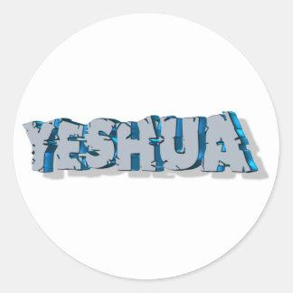 Yeshua Roc Bleu 3D Classic Round Sticker