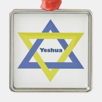 Yeshua Star Christmas Ornament