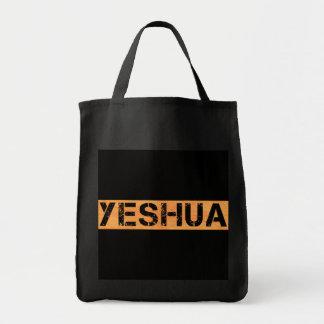 Yeshua tampon Orange fond noir Tote Bag