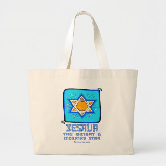 Yeshua The Bright and Morning Star Large Tote Bag
