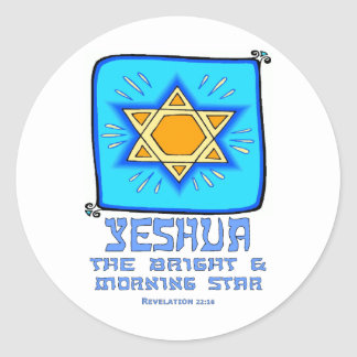 Yeshua The Bright and Morning Star Round Sticker