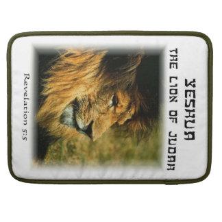 Yeshua the Lion of Judah Mac book sleeve