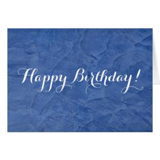 Yeso del azul del feliz cumpleaños felicitación