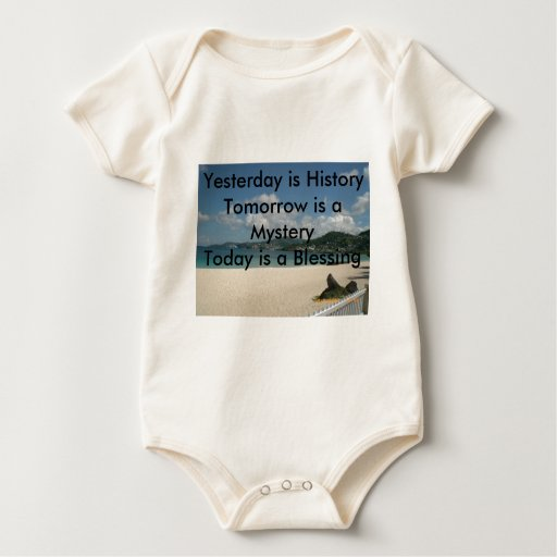 Yesterday is History Baby Bodysuits