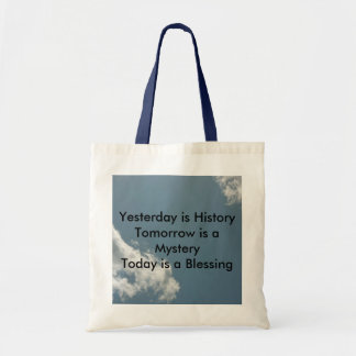Yesterday is History Canvas Bags