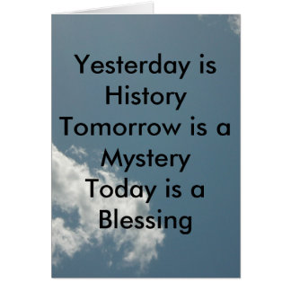 Yesterday is History Cards