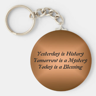 Yesterday Is History Keychain