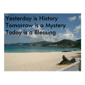Yesterday is History Postcard