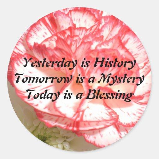 Yesterday is History Sticker
