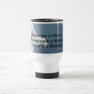 Yesterday is History Travel Mug