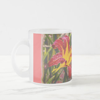 Yesterday Lily After The Rain Frosted Glass Coffee Mug