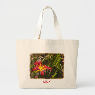 Yesterday Lily After The Rain Large Tote Bag