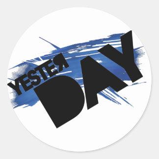 Yesterday Slash Sticker