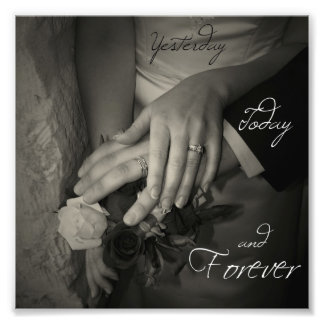 Yesterday, Today and Forever I Love You Hands Photo Print