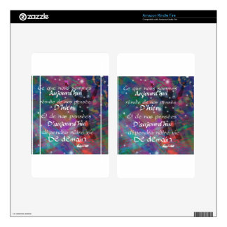 Yesterday, today and future are always in our mind decals for kindle fire
