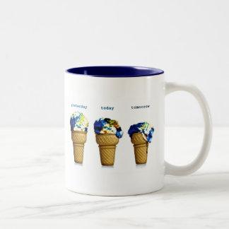 Yesterday Today Tomorrow Two-Tone Coffee Mug