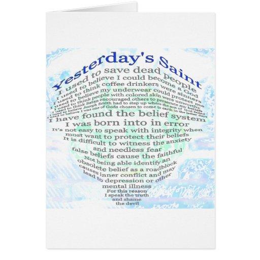 Yesterday's Saint Greeting Card