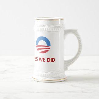 YesWeDid Obama Stein