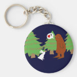 Yeti and Bunny Discuss Love Key Chains