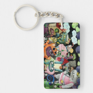 Yeti and Monsters Party! Rectangular Acrylic Keychains