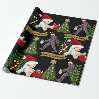Yeti & Bigfoot Christmas Wrapping Paper