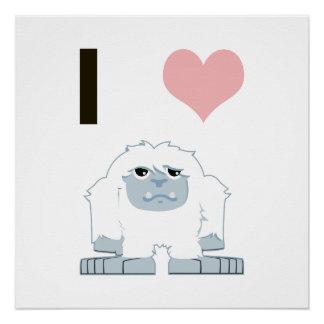 Yeti del corazón I Perfect Poster