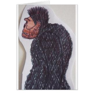 Yeti giant ape man greeting card