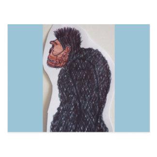 Yeti giant ape man postcard
