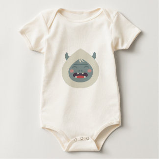 Yeti Head Baby Bodysuit