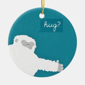 Yeti Hug Ceramic Ornament