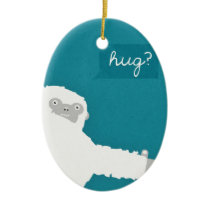 Yeti Hug Ceramic Ornament